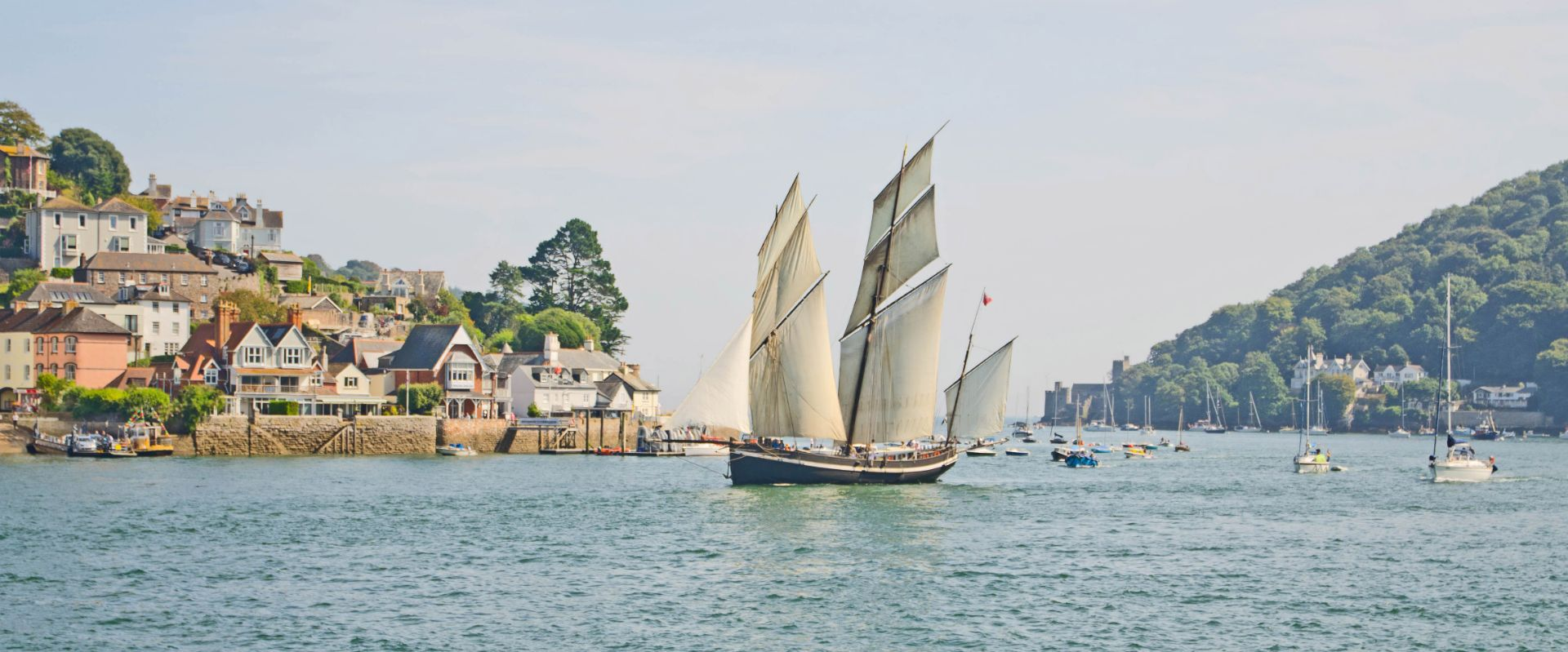 Sailing boat in Dartmouth