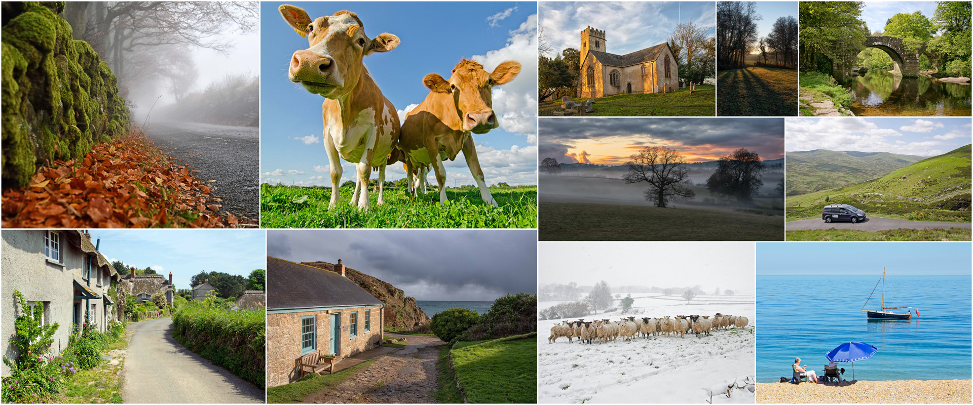Gallery collage of Unique Devon Tours photos