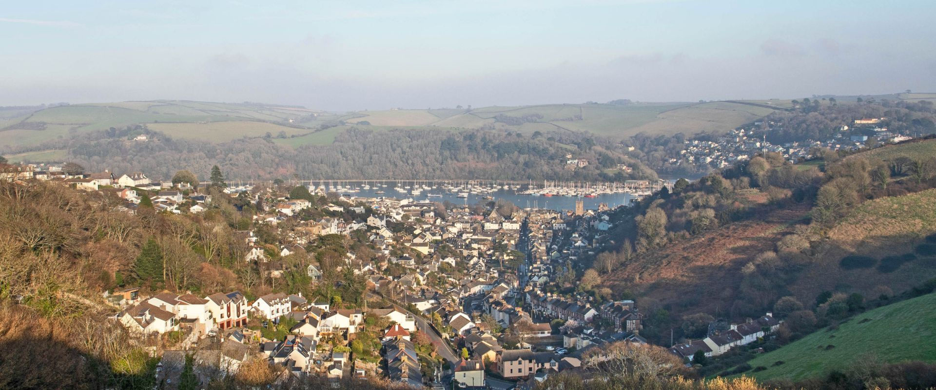 The view from Hangman's Cross in Dartmouth