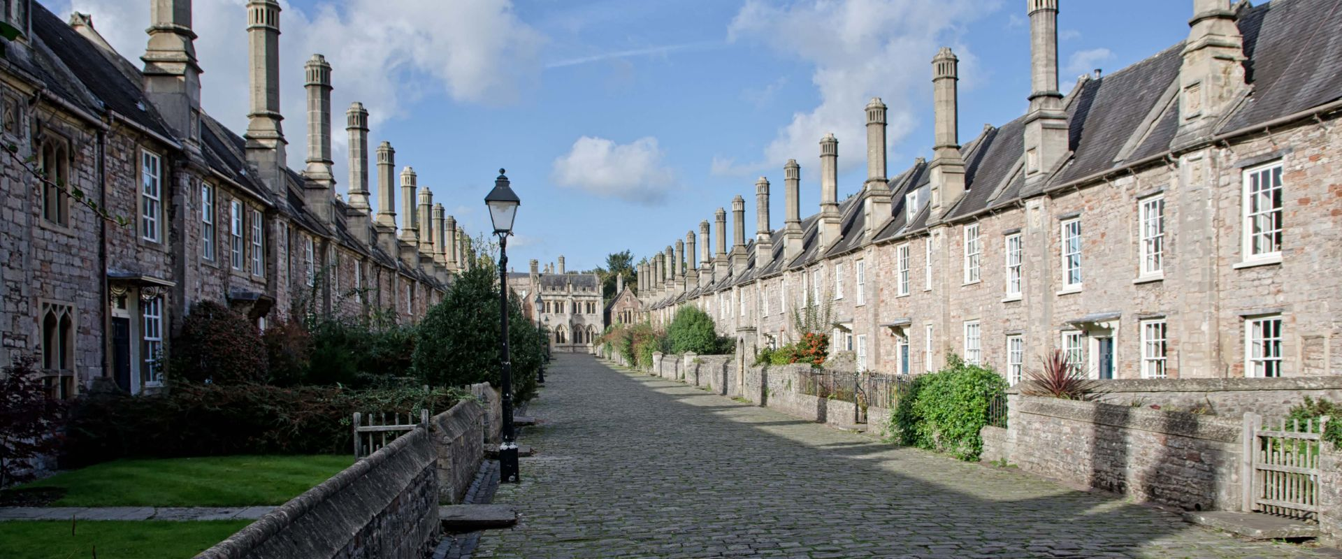 The Vicar's Close in the city of Wells