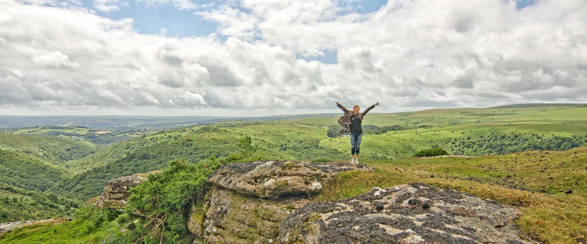 Guest on Sharptor during the Ultimate Dartmoor Experience