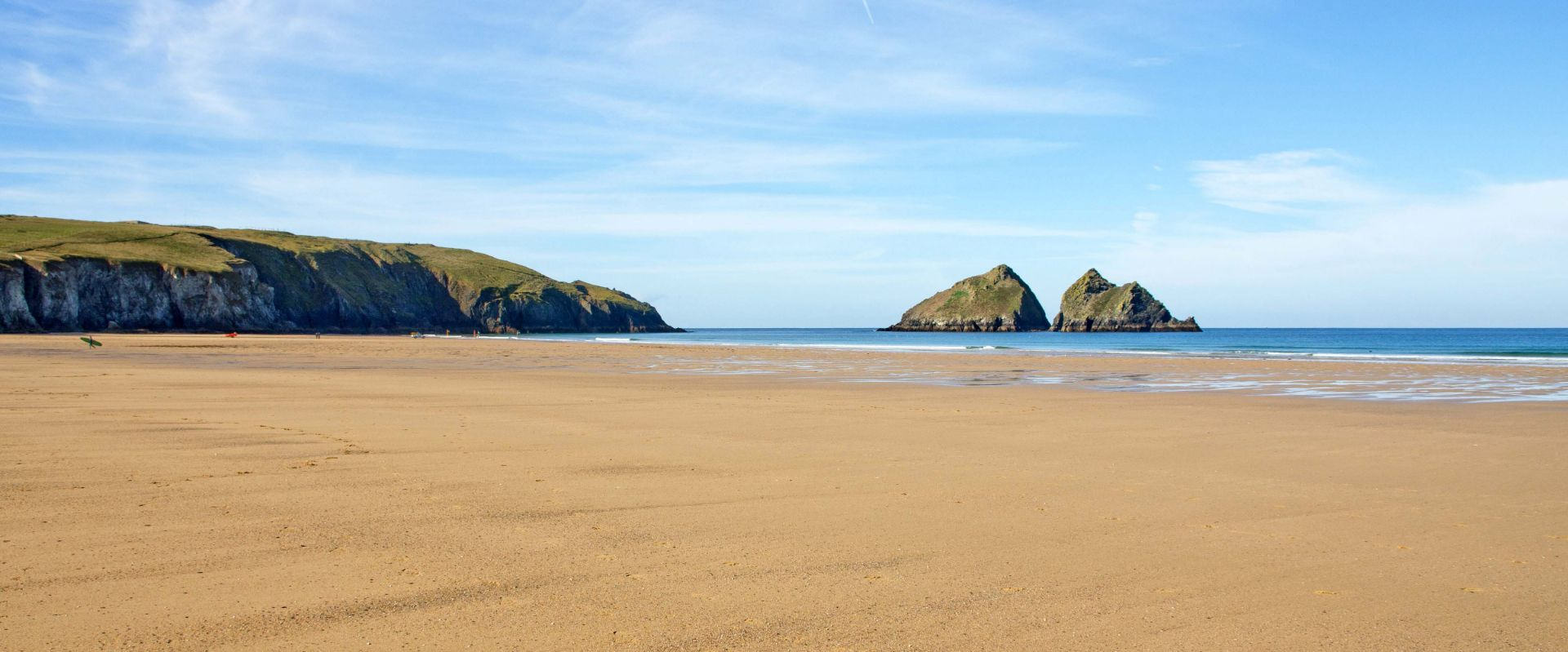 Holywell Bay in Cornwall