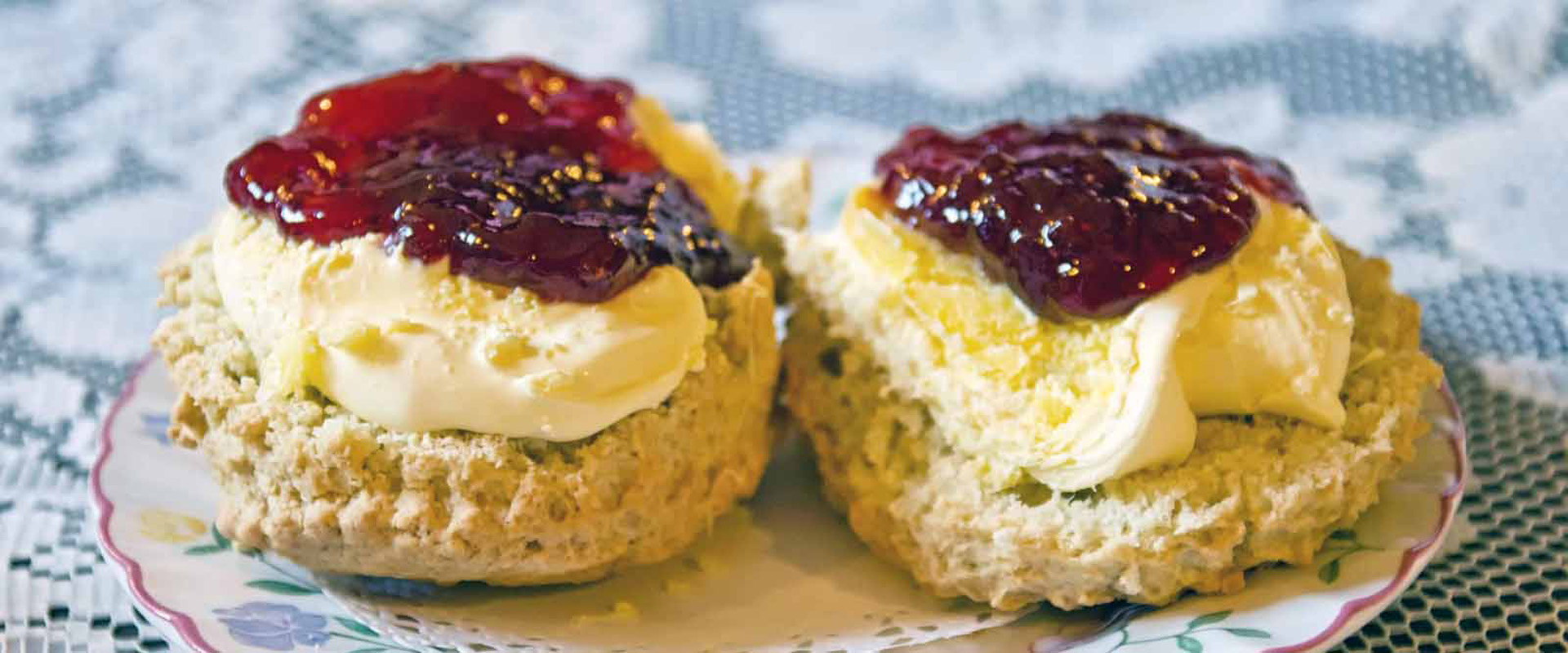 Scones with cream first then jam