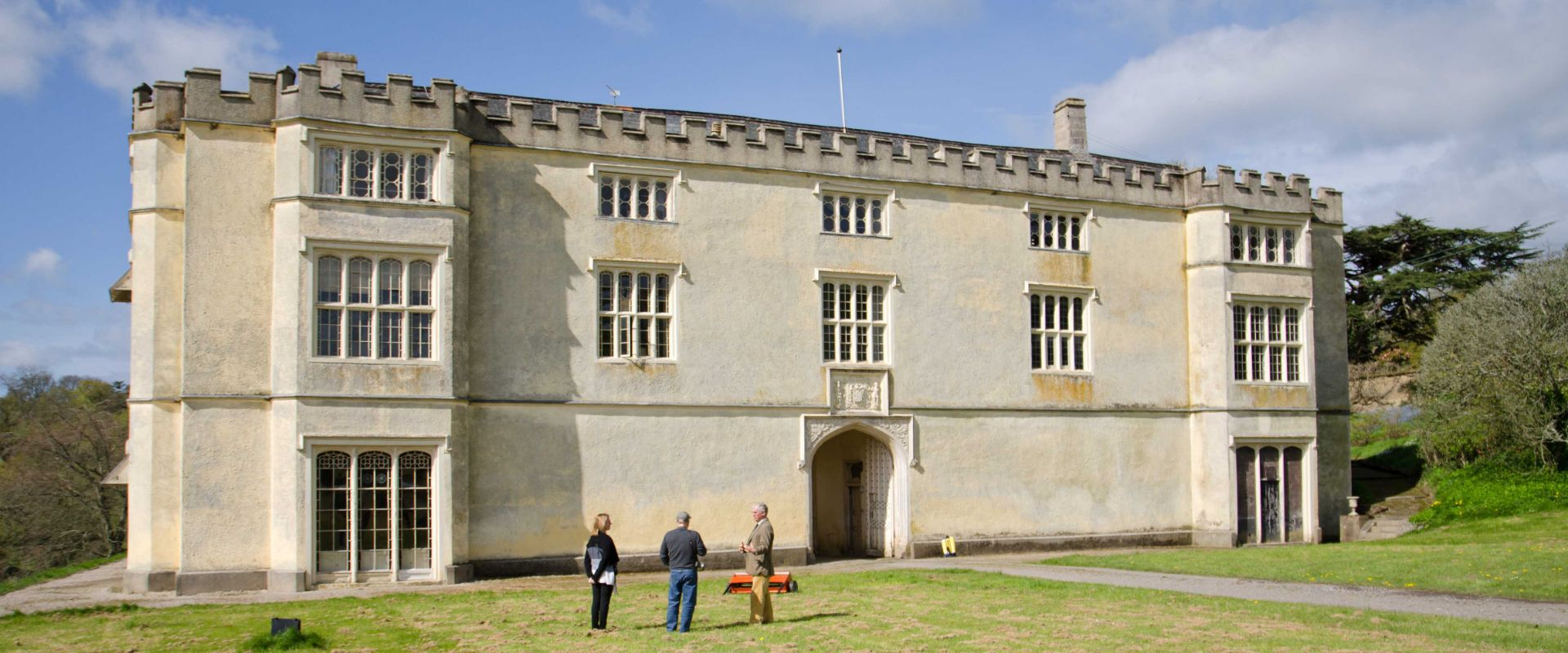 Guests on a guided tour of Great Fulford
