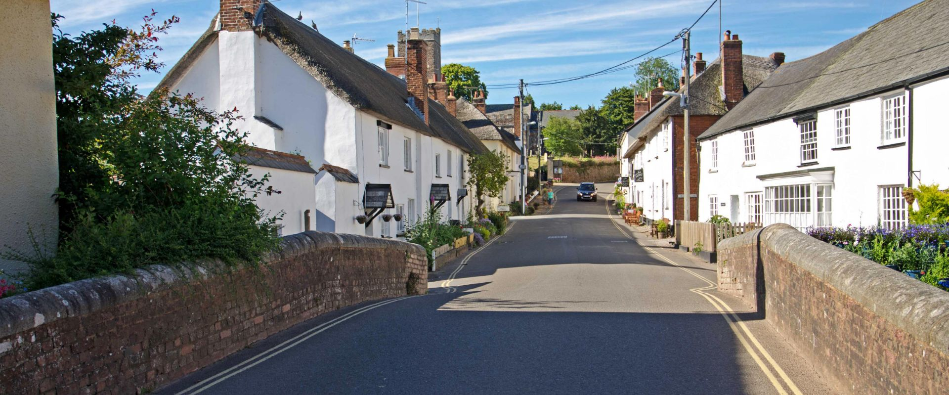 The main street in East Budleigh