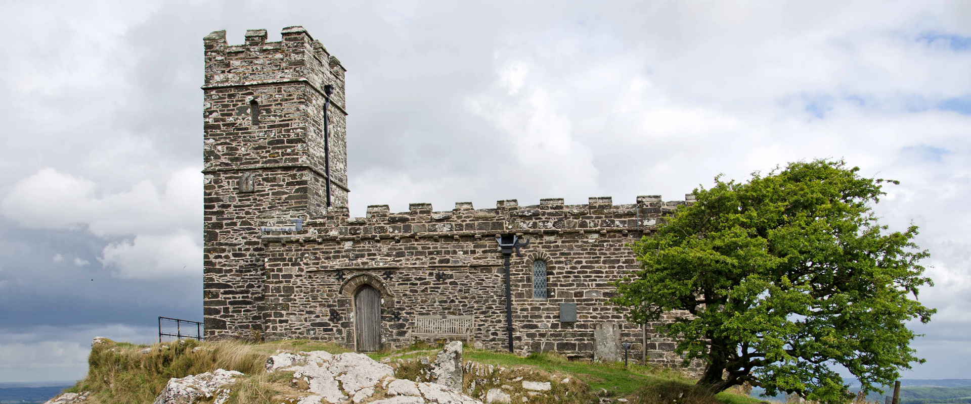 Church of st Michael de Rupe at Brentor in Devon