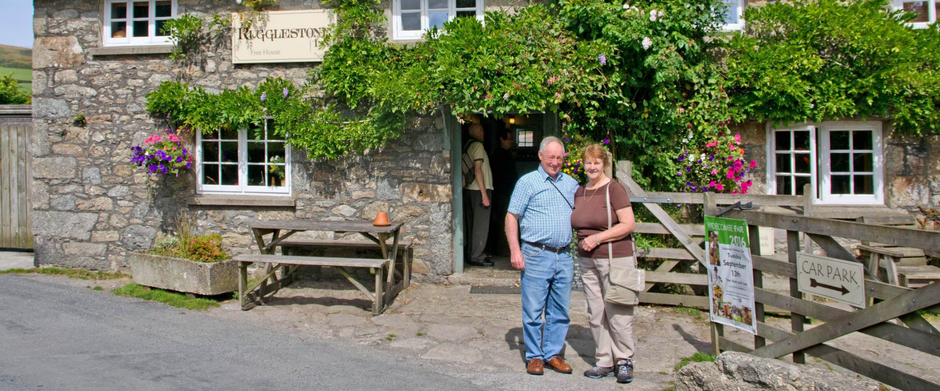 Guests at The Rugglestone Inn at Widecombe
