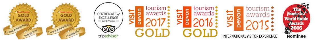 Tourism awards won by Unique Devon Tours for things to do in Devon