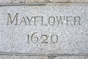 Plymouth Mayflower Steps 1620