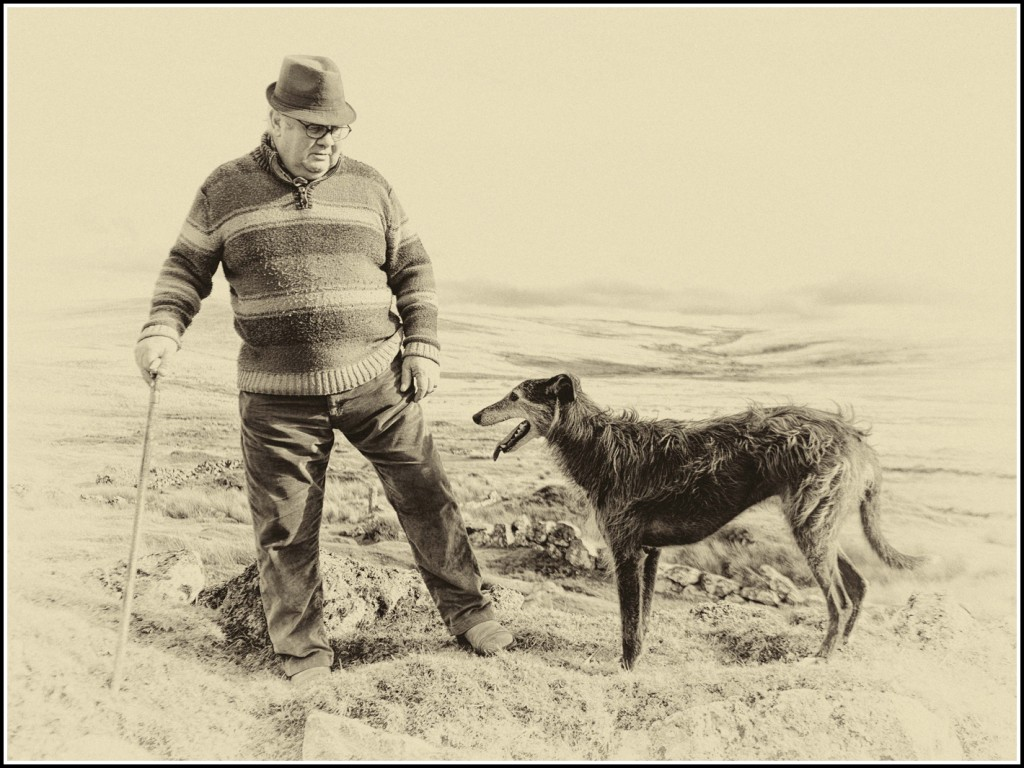 4 - Alfie and his owner at Fox Tor Mire