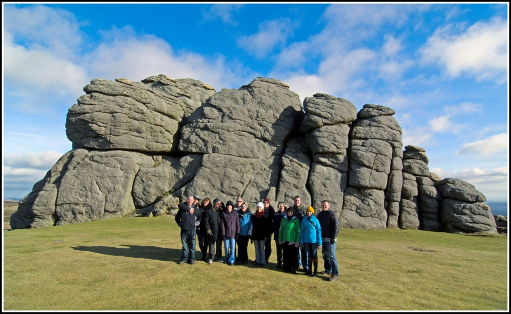 The American family at Haytor