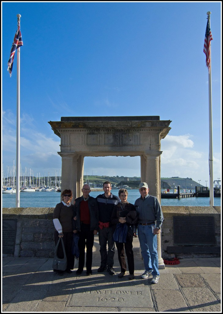 6 - Previous American Guests at the Mayflower Steps in Plymouth
