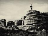 Figure on Dartmoor Tor