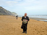 Guest at Charmouth on a Fossil Hunt