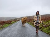 Guest with Highland Cattle