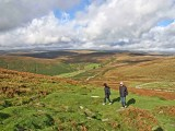 Guests walking on Dartmoor