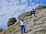 Guests at Haytor Rocks