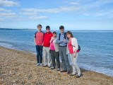 Family of guests on Slapton Sands