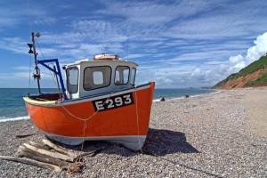 Boat on Branscombe Beach