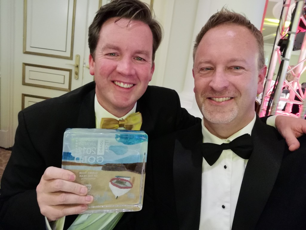 Alex and Mark at the Visit Devon Tourism Awards