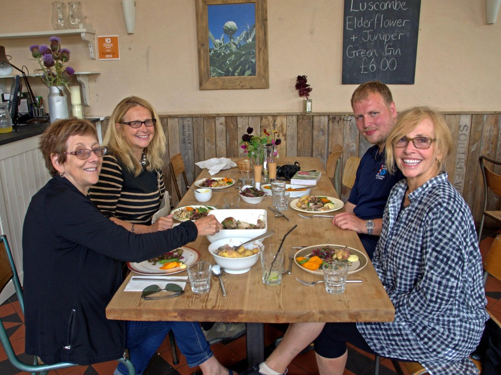 Guests at Riverford Field Kitchen
